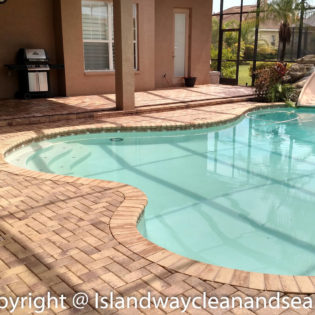 beige pool deck pavers