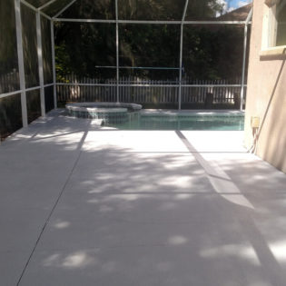 Grey paver slab for pool